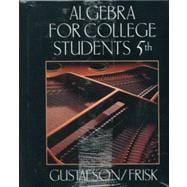Algebra for College Students with Study Guide Sampler