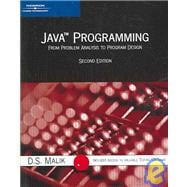 Java Programming: From Problem Analysis to Program Design, Second Edition