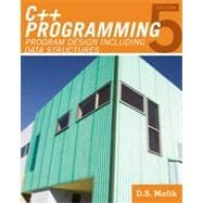 C++ Programming: Program Design Including Data Structures, 5th Edition