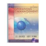 Operations Management : Strategy and Analysis