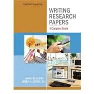 Writing Research Papers : A Complete Guide (spiral) with NEW MyCompLab Student Access Code Card