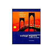 College Algebra: Concepts and Models (Book with CD-ROM)