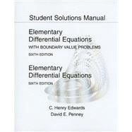 Student Solutions Manual for Elementary Differential Equations