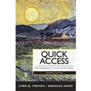 Quick Access Reference for Writers with MyCompLab with eText -- Access Card Package