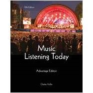 Music Listening Today, Cengage Advantage Edition (with Digital Music Download Printed Access Card and 2-CD set)