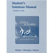 Student Solutions Manual for Elementary and Intermediate Algebra Concepts and Applications