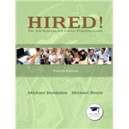 Hired! The Job Hunting and Career Planning Guide Plus NEW MyStudentSuccessLab Update -- Access Card Package