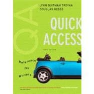 Quick Access, Reference for Writers (with MyCompLab NEW with E-Book Student Access Code Card)