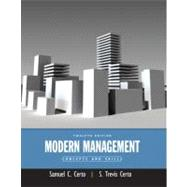 Modern Management : Concepts and Skills