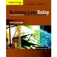 Study Guide for Miller/Jentz�s Business Law Today: The Essentials