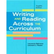 Writing and Reading Across the Curriculum Plus NEW WritingLab with eText -- Access Card Package