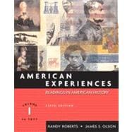 American Experiences, Volume I