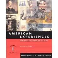 American Experiences, Volume I