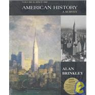 American History with Map and Study Guide CD, Volume Two; MP
