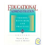 Educational Administration : Theory, Research and Practice