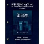 Solutions Manual for Even Numbered Problems