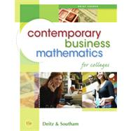 Contemporary Business Mathematics for Colleges, Brief Edition, 15th Edition