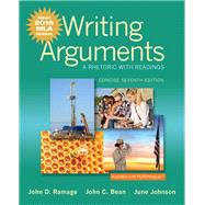 Writing Arguments A Rhetoric with Readings, Concise Edition, MLA Update Edition