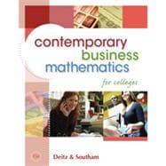 Contemporary Business Mathematics for Colleges , 15th Edition
