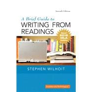 Brief Guide to Writing from Readings, A,  MLA Update Edition