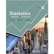 Statistics for Business and Economics Plus NEW MyStatLab with Pearson eText -- Access Card Package