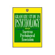 Graduate Study in Psychology 2000