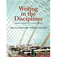 Writing in the Disciplines A Reader and Rhetoric Academic for Writers
