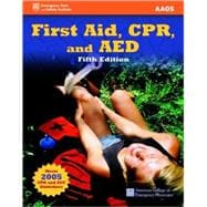 First Aid, CPR, and AED with online access card