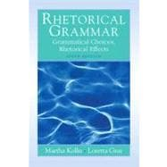 Rhetorical Grammar