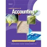Fundamentals of Accounting: Course 1, 9th Edition