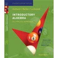 Aufmann Introductory Algebra Paperback Student Support Edition Seventhedition