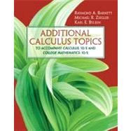Additional Calculus Topics