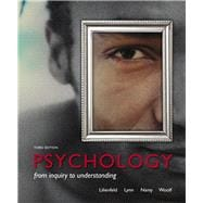Psychology From Inquiry to Understanding (paperback) Plus NEW MyPsychLab with Pearson eText -- Access Card Package