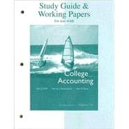Study Guide and Working Papers for Use with College Accounting : Chapters 1-14