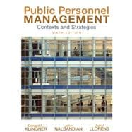 Public Personnel Management : Contexts and Strategies