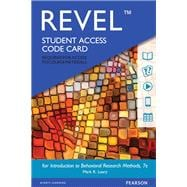 REVEL for Introduction to Behavioral Research Methods -- Access Card