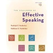 The Challenge of Effective Speaking (with CD-ROM and SpeechBuilder Express�/InfoTrac)