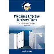 Preparing Effective Business Plans: An Entrepreneurial Approach, 2/e