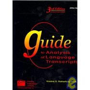 Guide to Analysis of Language Transcripts (3rd Edition) : Tpx1704