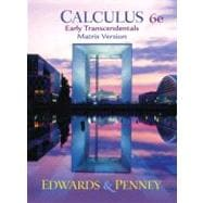 Calculus, Early Transcendentals Matrix Version