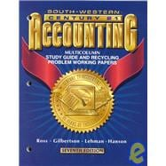 Century 21 Accounting: Multicolumn Study Guide and Recycling Problem Working Papers