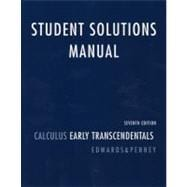Student Solutions Manual for Calculus Early Transcendentals