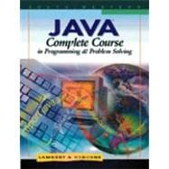 Java : Complete Course in Programming and Problem Solving