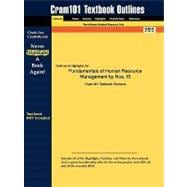 Outlines and Highlights for Fundamentals of Human Resource Management by Noe, Isbn : 9780073381473