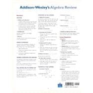 Addison-Wesley's Algebra Review