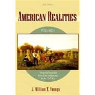 American Realities, Volume I