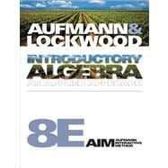 Student Solutions Manual for Aufmann/Lockwood's Introductory Algebra, 8th