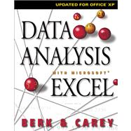 Data Analysis with Microsoft Excel Updated for Office XP (with CD-ROM)