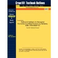 Outlines and Highlights for Managerial Economics in a Global Economy by Salvatore, Isbn : 9780195307191