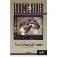 Taking Sides Psychological Issues : Clashing Views on Controversial Psychological Issues
